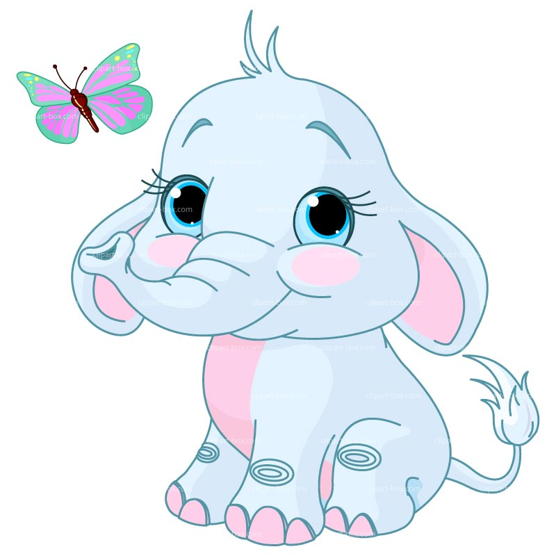 Clipart Baby Elephant Royalty Free Vector Design