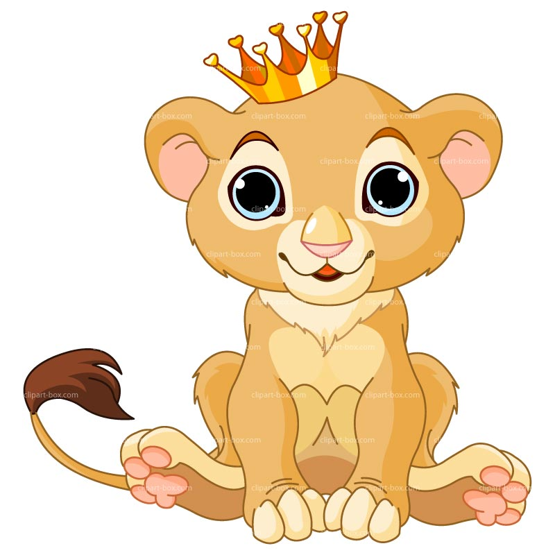 Clipart Baby Lion With Crown Royalty Fre-Clipart Baby Lion With Crown Royalty Free Vector Design-9