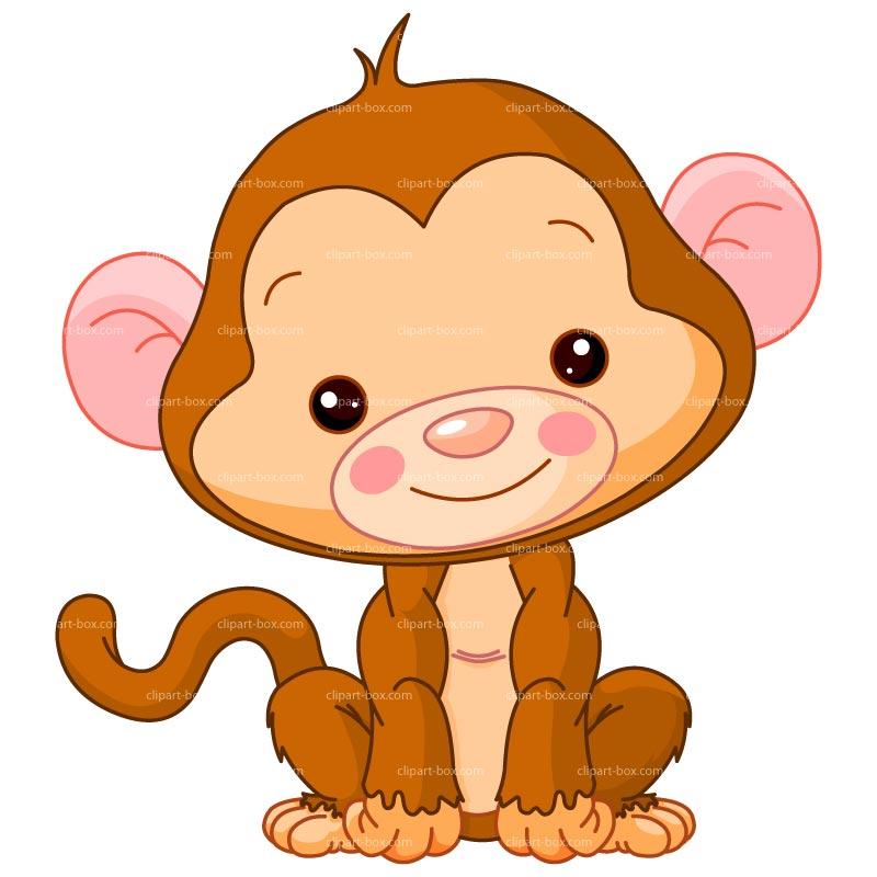 Clipart Baby Monkey Royalty .