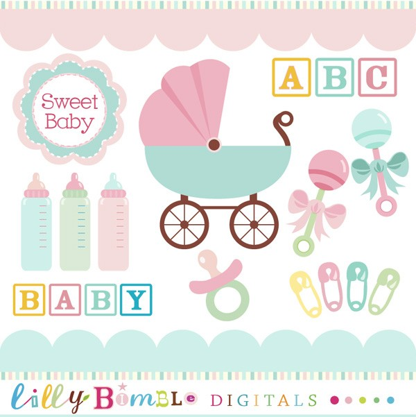 Clipart Baby Shower-clipart baby shower-8