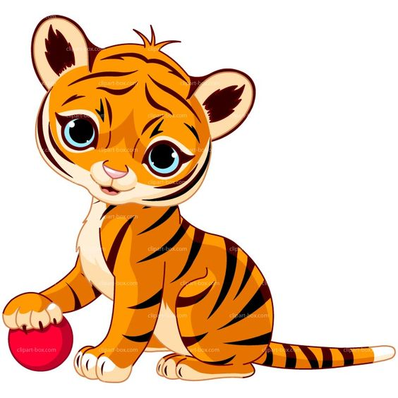 CLIPART BABY TIGER PLAYING