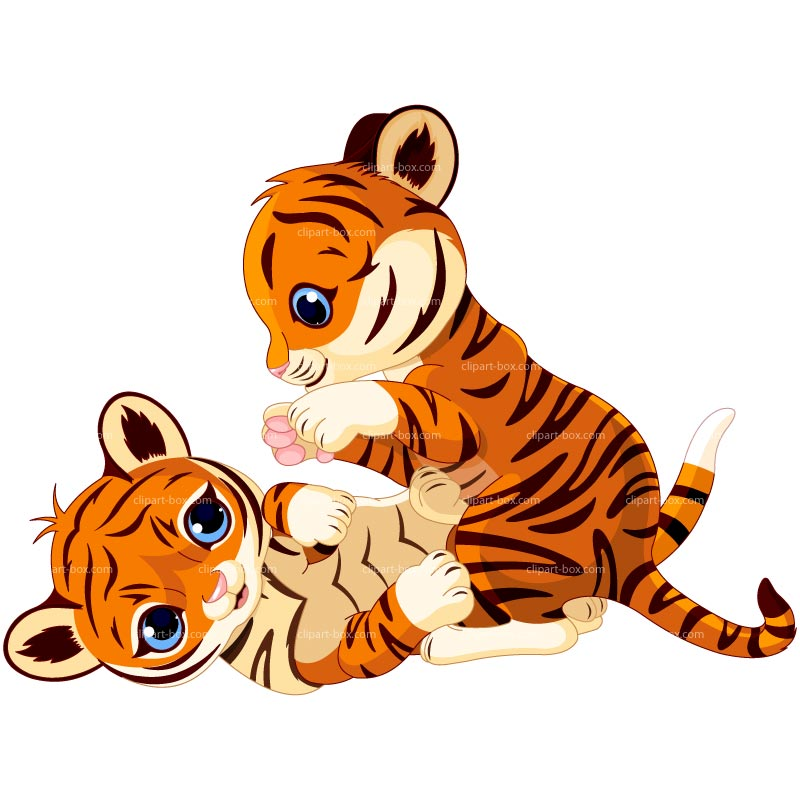 Clipart Baby Tigers Playing Royalty Free Vector Design