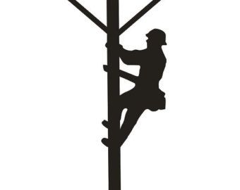 ... ClipArt Best; Lineman, Vintage and Silhouette ...