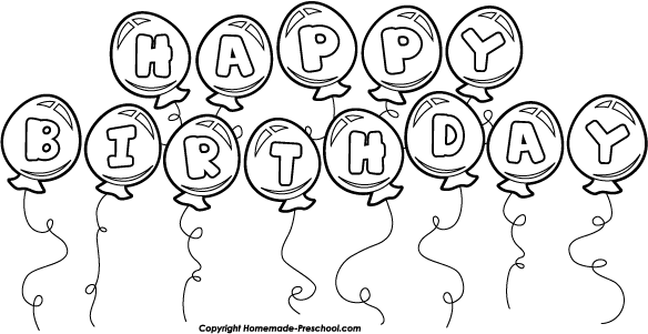 Clipart Birthday Balloons Clipart Birthday Balloon Bunch White
