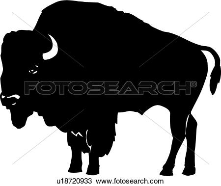 Clipart - Bison . Fotosearch - Search Cl-Clipart - Bison . Fotosearch - Search Clip Art, Illustration Murals, Drawings and Vector-10