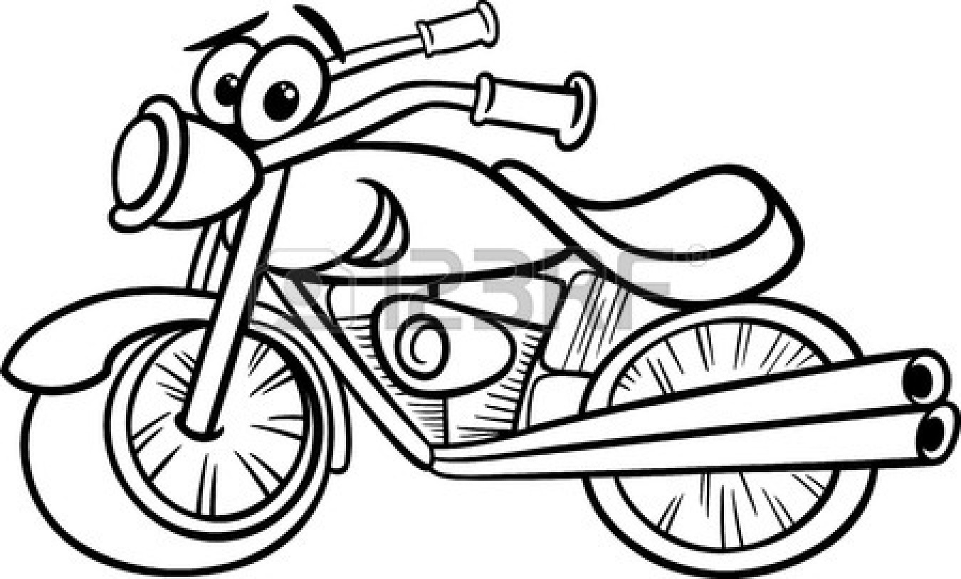 Clipart Black And White 25894127 Funny B-Clipart Black And White 25894127 Funny Black And White Motor Bike-3