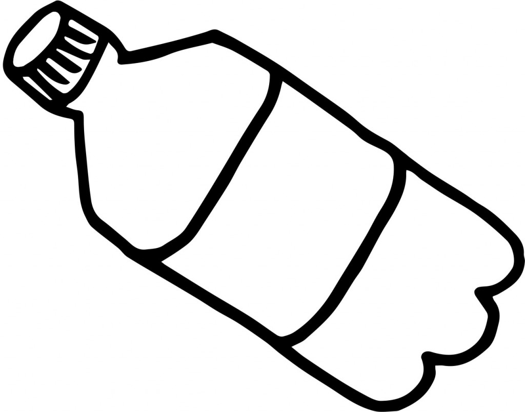 ... Clipart Black And White. cartoon water bottle. cartoon water bottle. Plastic Bottle Image Of A ..