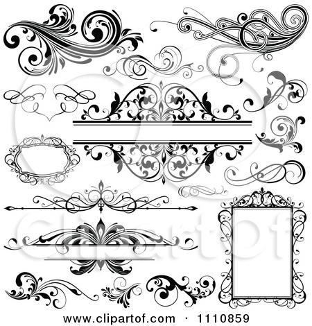 Clipart Black And White Design .