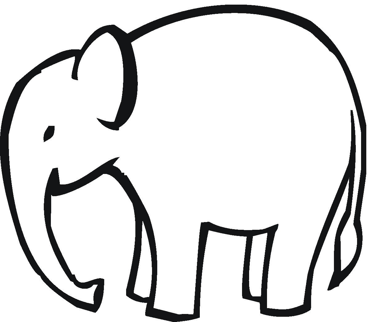 Clipart Black And White Elephant Head Outline Mama Clipart Elephant
