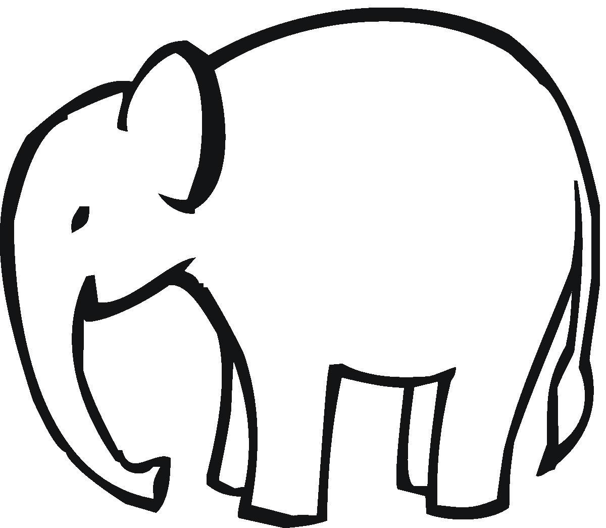 Clipart Black And White Elephant Head Ou-Clipart Black And White Elephant Head Outline Mama Clipart Elephant-3