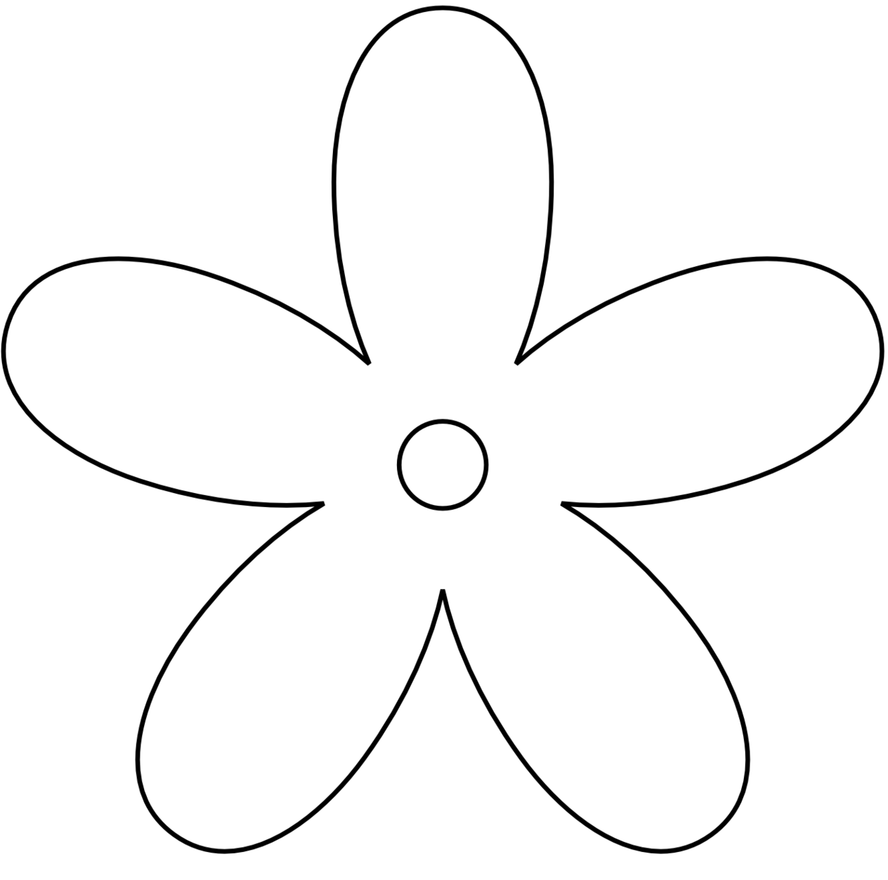 Clipart Black And White Flower - Clipart-Clipart black and white flower - ClipartFox-5