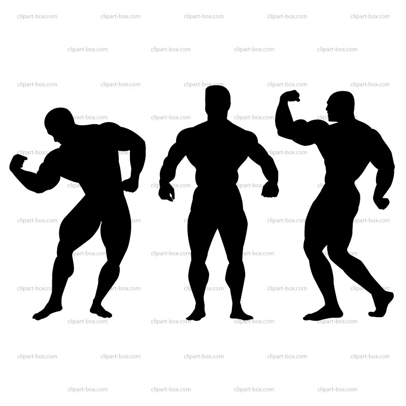 Clipart Bodybuilding Pose Roy - Body Builder Clip Art