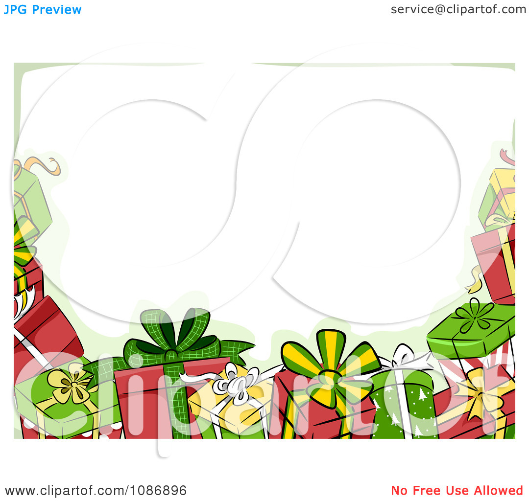 Clipart Border Of Christmas .