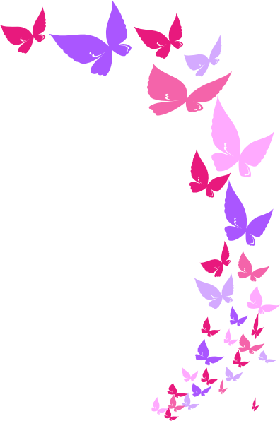 ... Clipart Borders; Rainbow butterfly clipart transparent ...
