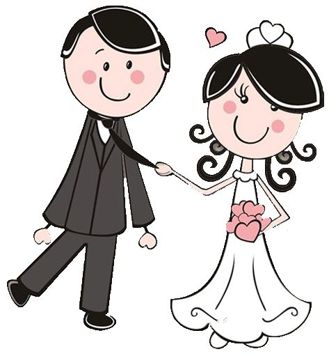Clipart Bride,Bride Groom. Dibujos. Clipart. Digi stamps - Wedding - Novios - Boda
