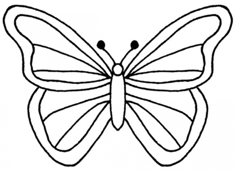 Clipart butterfly outline clipartall 2