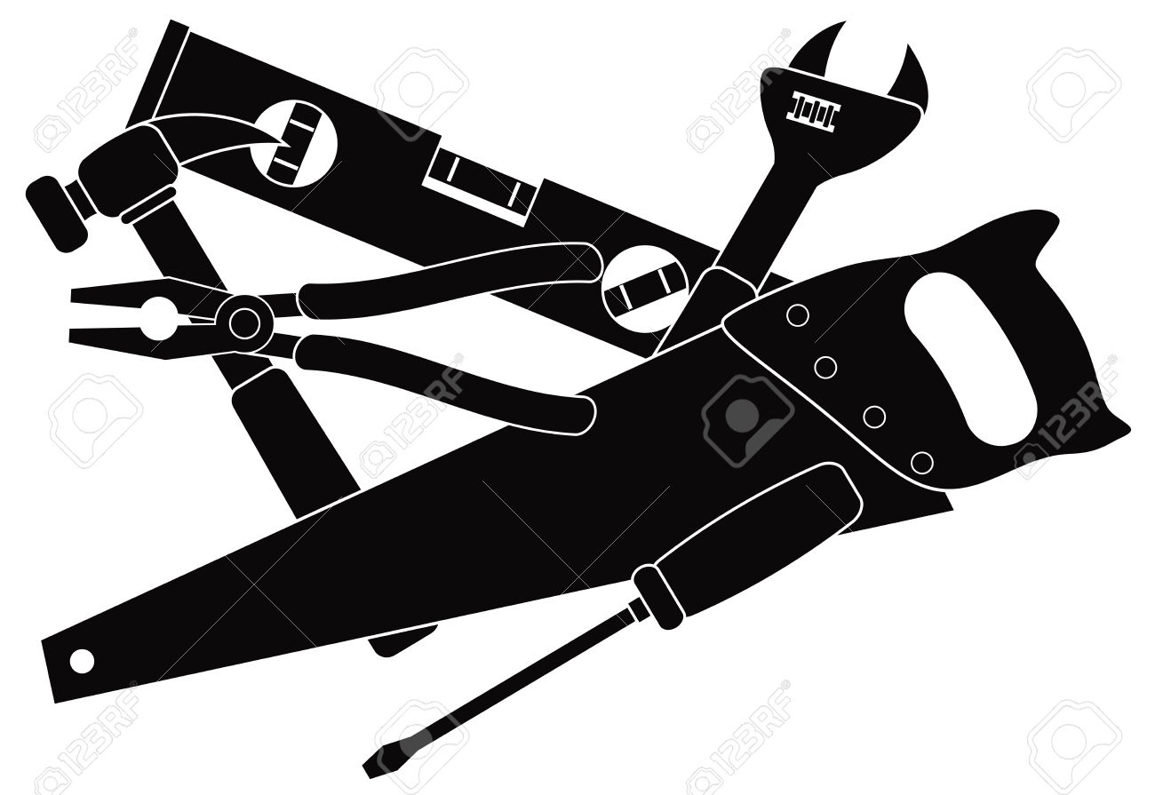 Clipart carpenter tools free - .
