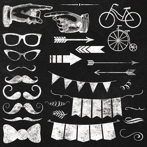 Clipart - Chalkboard Elements .