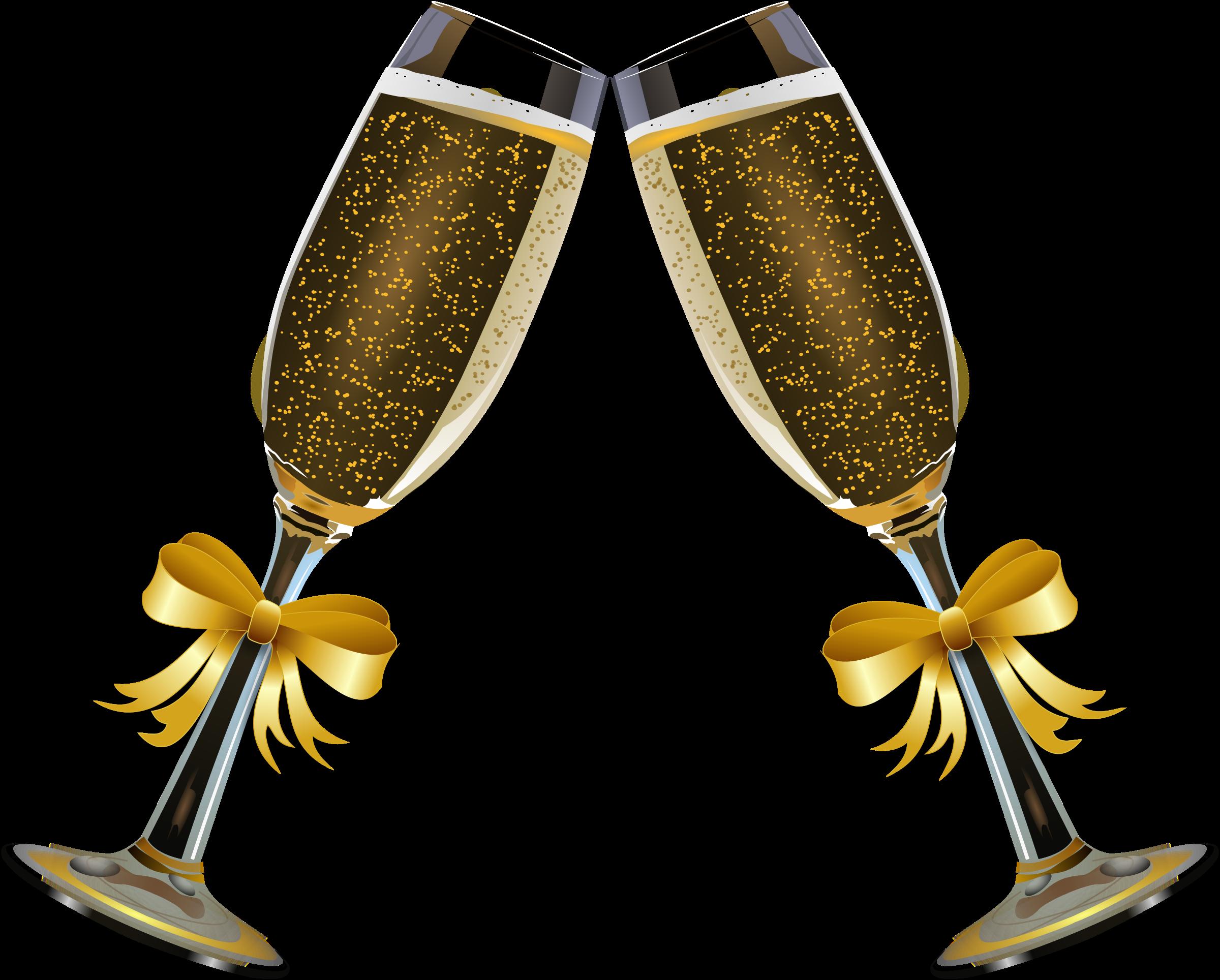 Clipart champagne glass remix 4