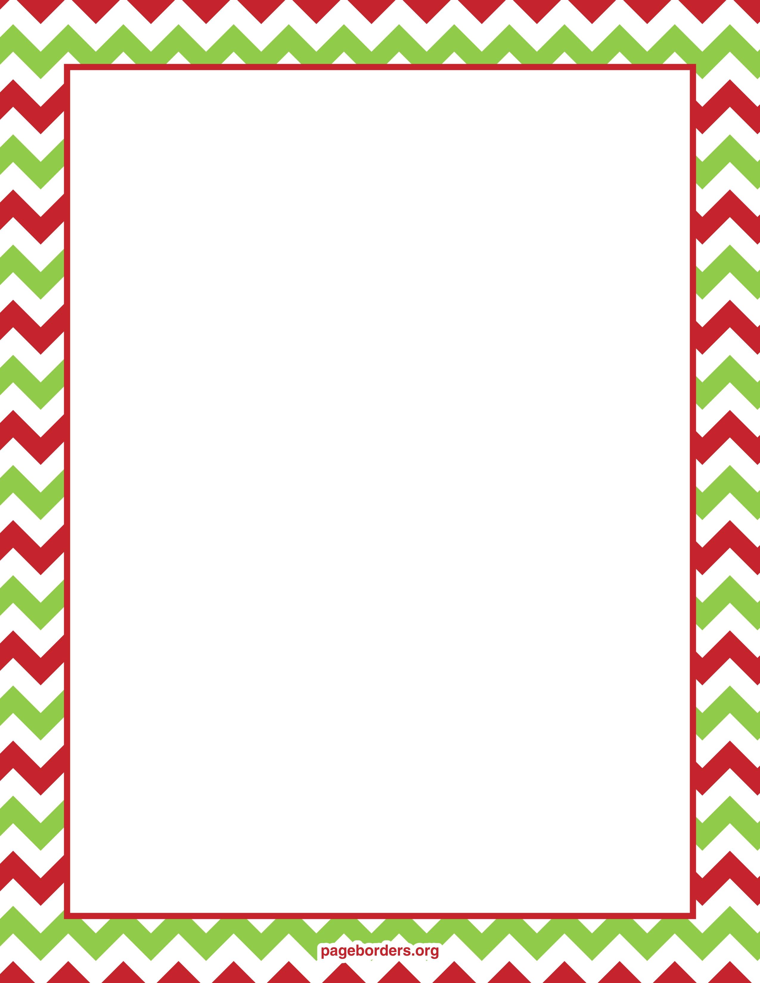 Clipart Chevron Borders Clipa - Free Christmas Borders Clipart
