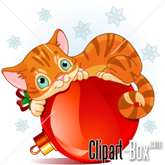 CLIPART CHRISTMAS CAT