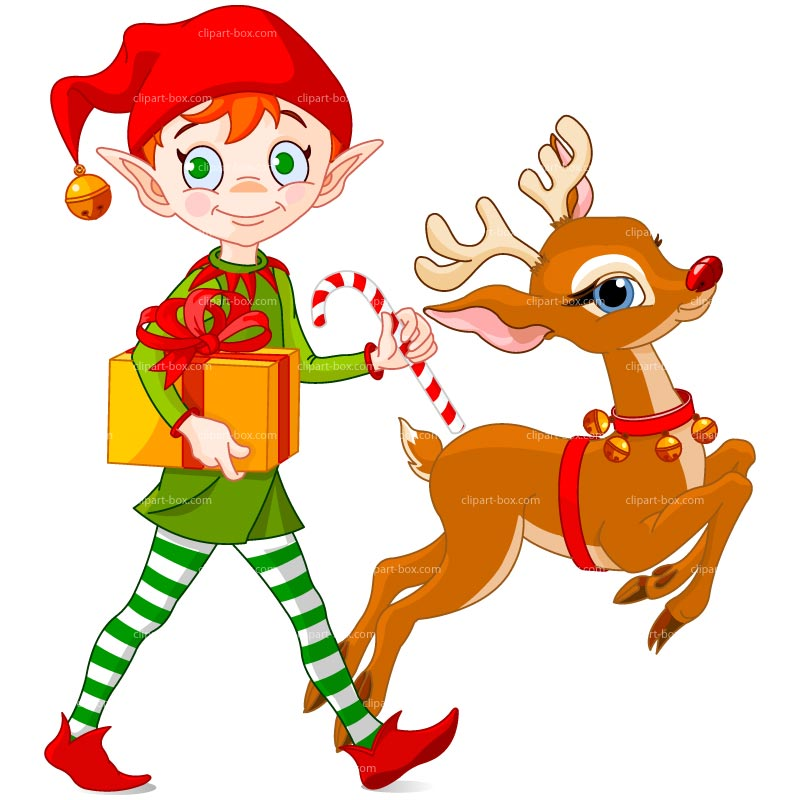Clipart Christmas Elf With Deer Royalty -Clipart Christmas Elf With Deer Royalty Free Vector Design-16