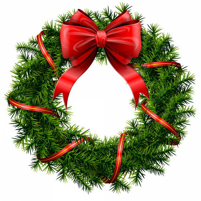 Clipart Christmas Party Clipa - Christmas Wreath Clipart