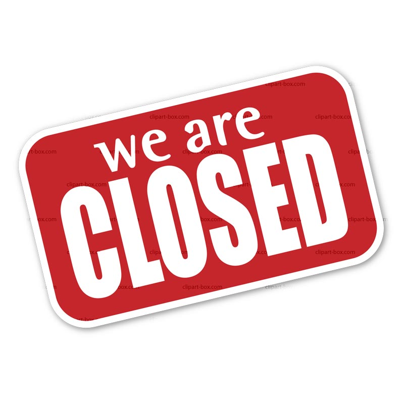 Clipart Closed Sign Royalty Free Vector Design