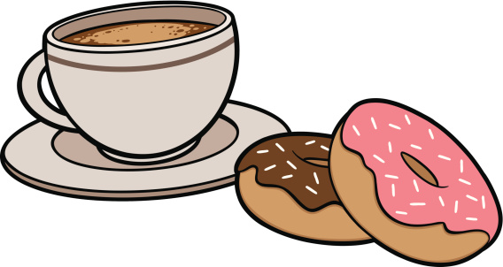 Coffee And Donuts Clipart