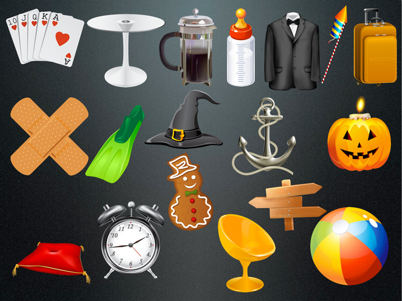 Clipart Collection for Keynote, Pages, Numbers or Powerpoint, Word and Excel.