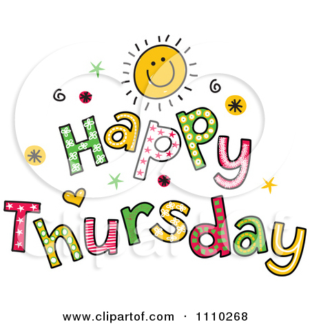 Clipart Colorful Sketched . - Thursday Clip Art