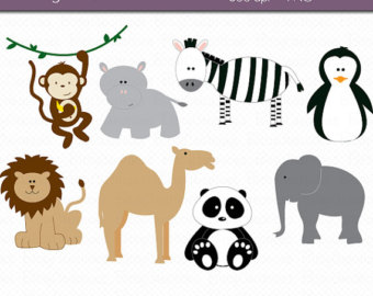 Clipart Commercial Use Clip Art Instant Download Zoo Clipart Animal