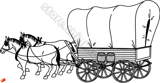 Clipart Covered Wagon. And Native American Covered .