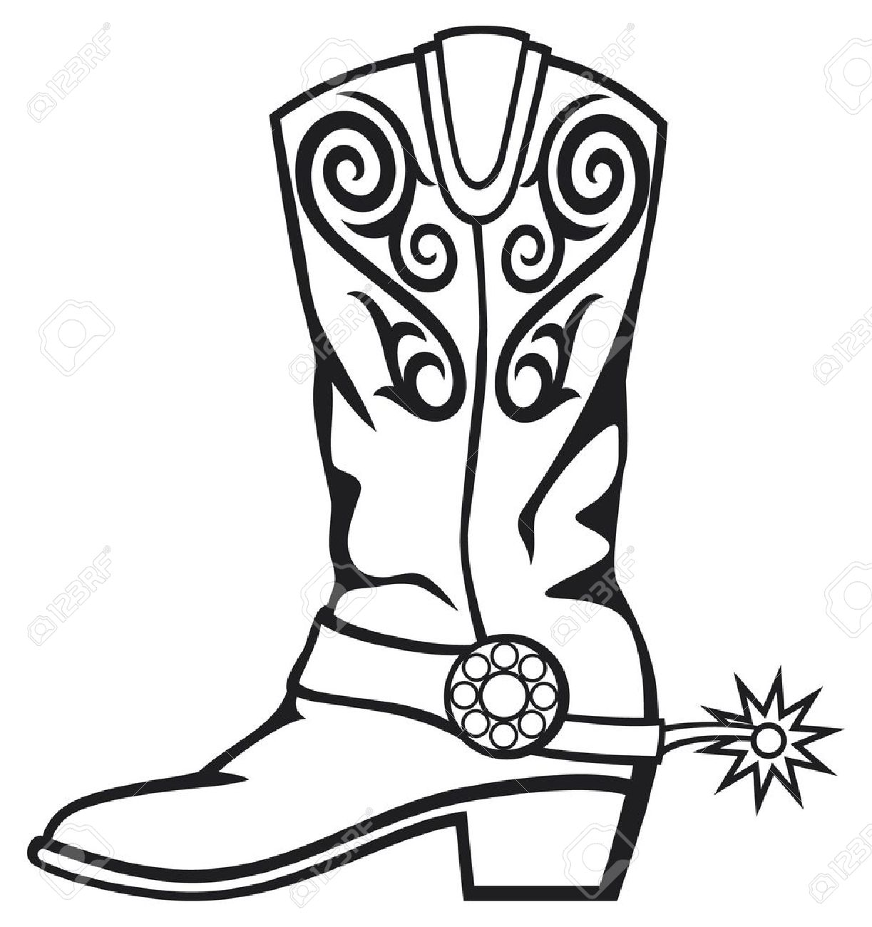 Clipart cowgirl boots - .