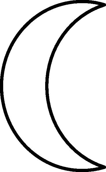 Clipart Crescent Moon - .-Clipart crescent moon - .-3