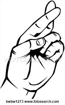 Fingers Crossed Clip Art