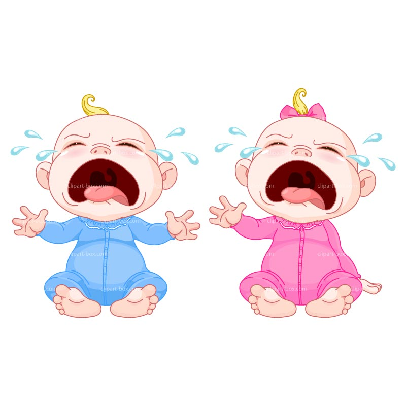 Clipart Crying Babies Royalty Free Vector Design