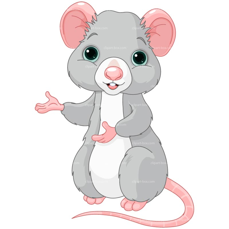 CLIPART CUTE RAT | Royalty .