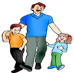 clipart dad. Fathers Day Dad And Kids .-clipart dad. Fathers Day Dad And Kids .-8