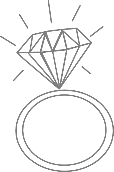 Clipart diamond ring .