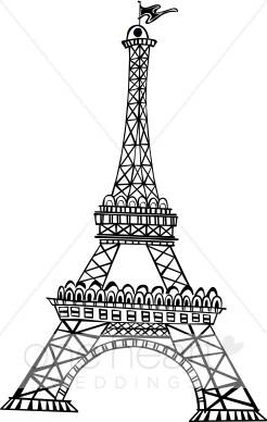 Eiffel tower large. Free clip art