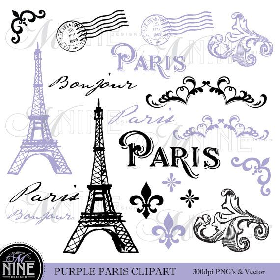Clipart Digital Vintage Paris Printable -Clipart Digital Vintage Paris Printable Clipart Pink Paris Paris-1