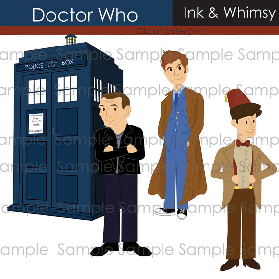 Clipart, Doctor Who, INSTANT .-Clipart, Doctor Who, INSTANT .-12