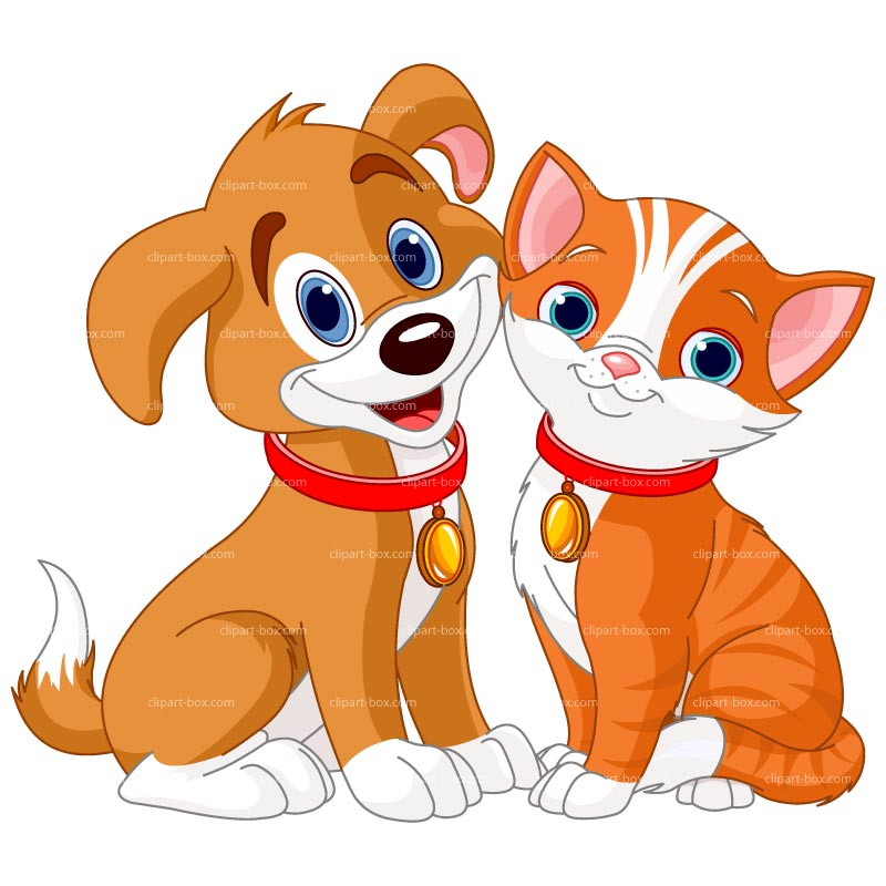 Clipart Dog And Cat Royalty F - Pets Clipart