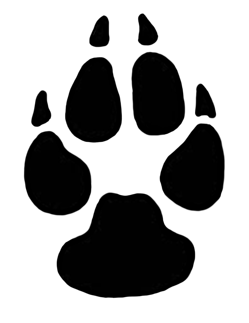 Clipart, Dog Paw Print .-clipart, dog paw print .-2