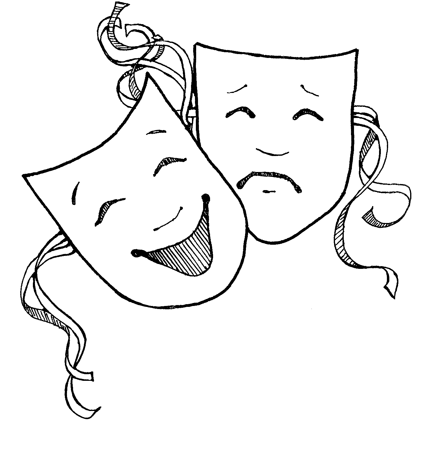 Clipart drama masks free - ClipartFest