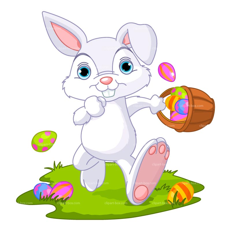 Clipart Easter Bunny Running Royalty Free Vector Design