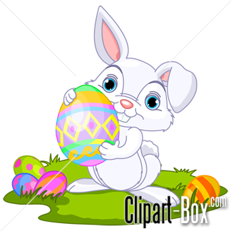 CLIPART EASTER BUNNY WITH EGG
