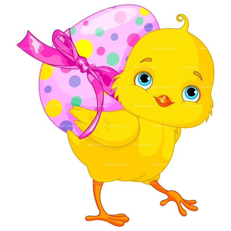 Clipart Easter Chicken With Egg Royalty Free Vector Design