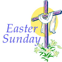 Clipart; Easter Sunday .